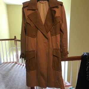 Marc Jacobs Trench with real leather detailing